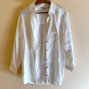 & Other Stories White Linen Coverup/ top